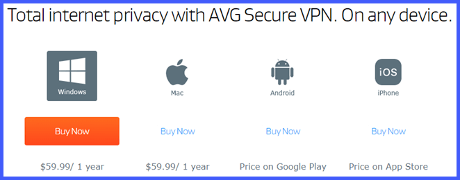 قیمت گذاری AVG Secure VPN