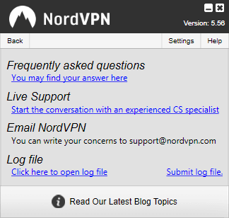NordVPN Windows Client Help