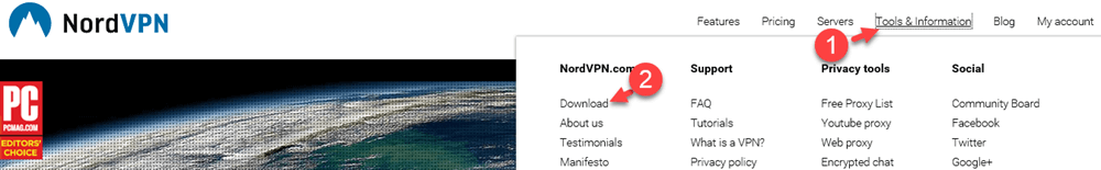 NordVPN Custom Software downloaden