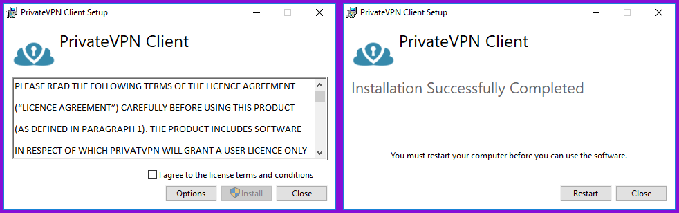 De PrivateVPN Windows Clien installeren