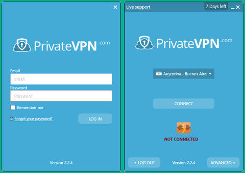 PrivateVPN Windows Client Login