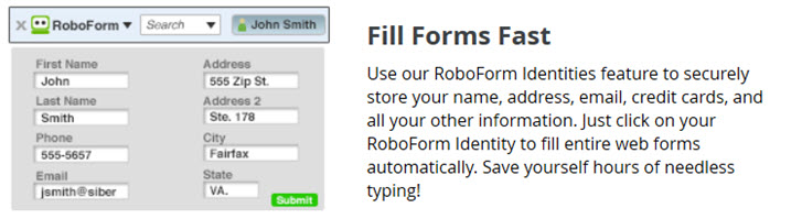 Roboform Form Filler