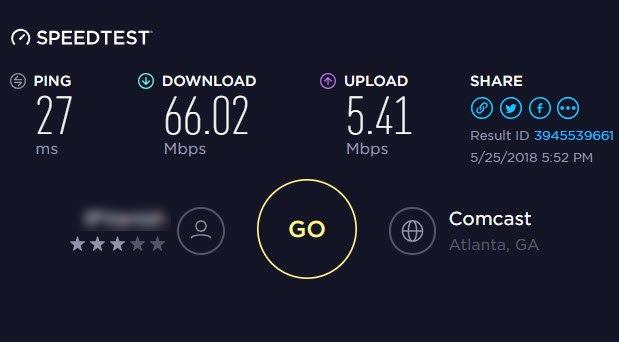 VPNhub Speedtest