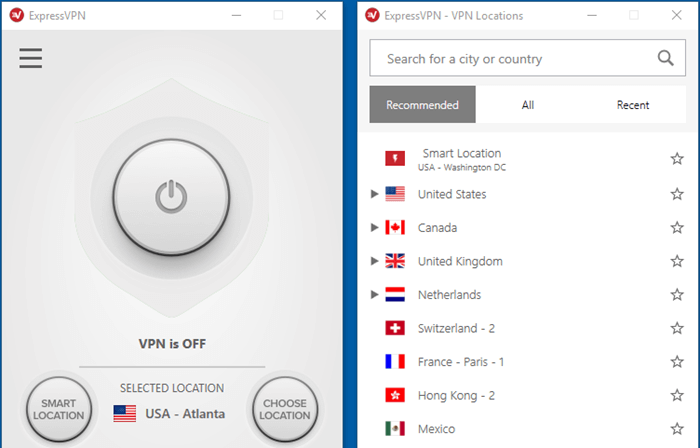 לקוח Windows של ExpressVPN